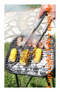 Barbecue : légumes, fruits, viandes grillées et sauces pour barbecue