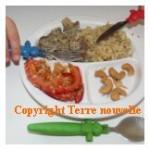 Champignons à la crème riz oignon et clou de girofle