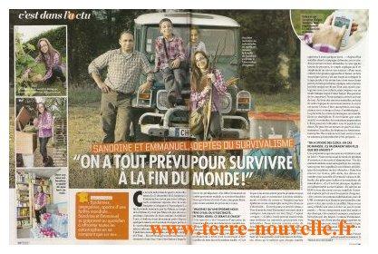 Closer : Sandrine et Emmanuel, du blog Terre nouvelle, présentent le survivalisme familial
