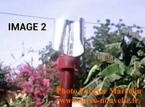 Eolienne de Fabrice Marcelin, axe vertical, 6m, au Niger