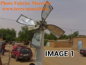 Eolienne de Fabrice Marcelin, au Niger, pour puiser de l'eau