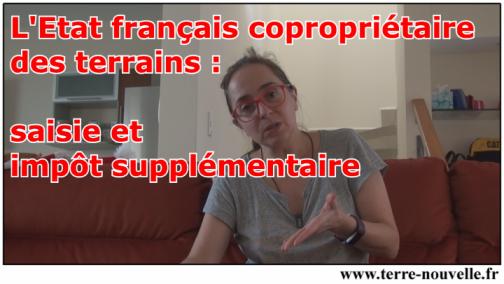 L'Etat français copropriétaire des terrains : saisie et impôt supplémentaire