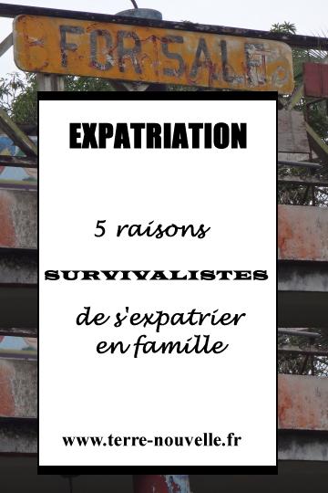 Expatriation : 5 raisons Survivalistes de s'expatrier en famille