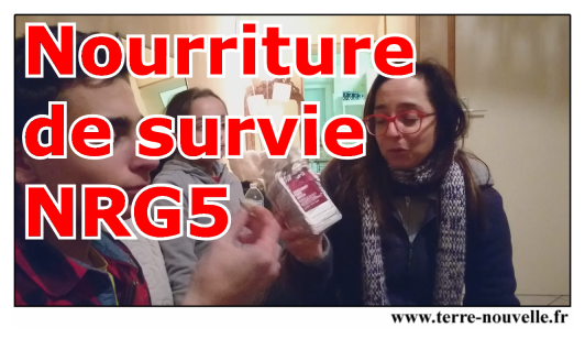 Test en famille de la nourriture de survie : emergency food ration NRG-5