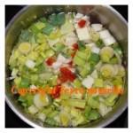 Potage chou vert et autres légumes