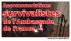 recommandations survivalistes de l'ambassade de france