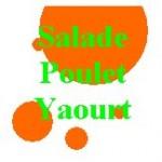 Salade verte poulet sauce au yaourt