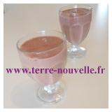 Shake framboise cacao lait d'amande, détox Clean