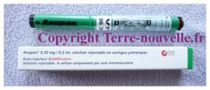 Survivalisme familial : choc anaphylactique et seringue d'adrénaline en auto-injection