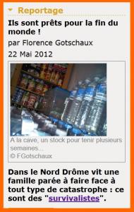 Survivalistes de Terre nouvelle sur France Bleue Drôme Ardèche