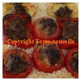 Tomate farcie et autres légumes