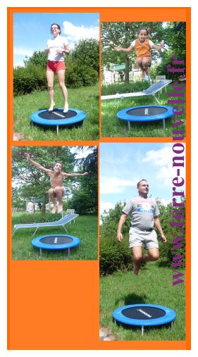 Le trampoline de la famille Terre nouvelle : on adore !...