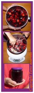 Confiture de fraises et cerises