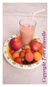 Shake yaourt et fruits façon milkshake aux fruits