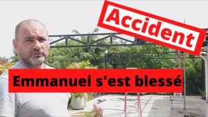 ACCIDENT : Emmanuel s'est blessé