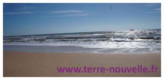 Une immense plage d'Algarve, près d'Albuferia, superbe