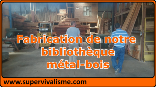 Comment fabriquer une bibliothèque, métal - bois, sans être un professionnel ;-)