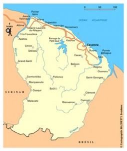 Carte de la Guyane : un refuge pour survivalistes ?
