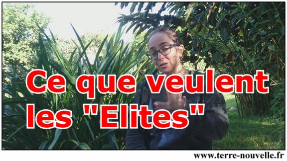 """Ce que veulent les """"Elites""""..."""