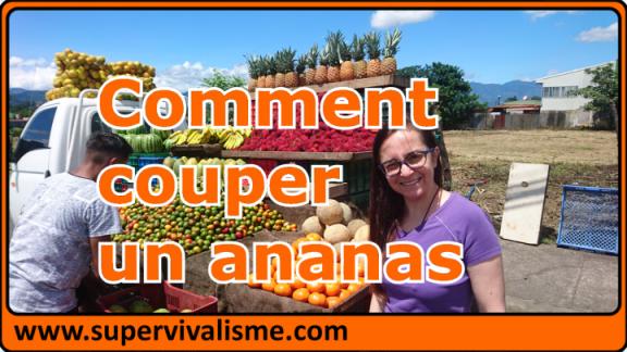 Comment couper un ananas et comment conserver un ananas (secret de mamie du Costa Rica) ;-)