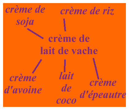 Comment remplacer la crème de lait de vache par d'autres crèmes