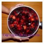 Confiture cerises fraises