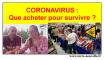quoi acheter pour survivre au coronavirus