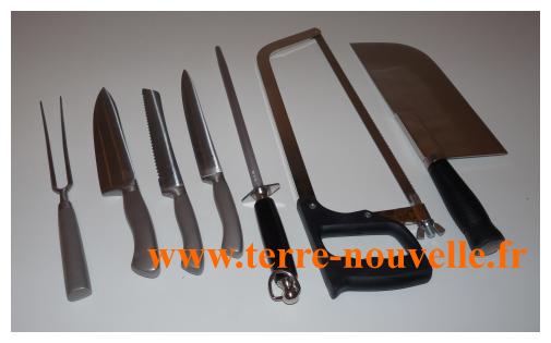 Nos couteaux de cuisine garantis à vie, nos outils pour dépecer le gibier