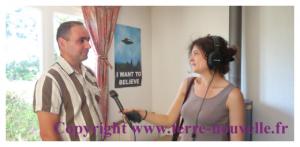 Emmanuel de Terre nouvelle, survivaliste interviewé par Anaëlle Verzaux, journaliste chez France Inter