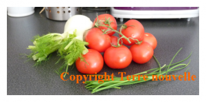 Soupe froide fenouil tomate