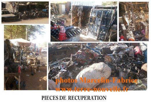 Marché de la récupération au Niger : les pièces de récupération