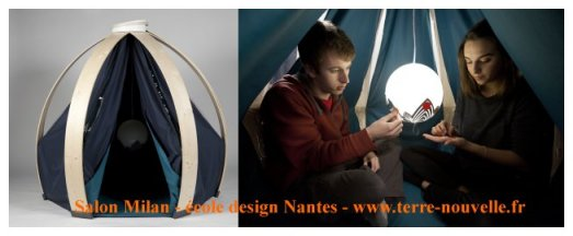 """Salon de Milan, école de design de Nantes : capsule loisirs, """"survival"""""""