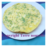 Omelette aux deux fromages