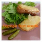 Pomme de terre au four et sa raclette
