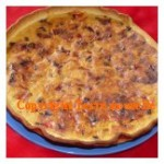 Quiche poivron rouge curry oignon rouge