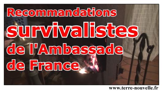 Recommandations Survivalistes de l'Ambassade de France en Amérique centrale