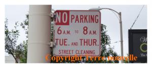 A San Francisco, partout des panneaux indiquent les jours et horaires de nettoyage des rues