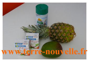 Shake façon Pinacolada sans alcool : ananas, coco et mangue